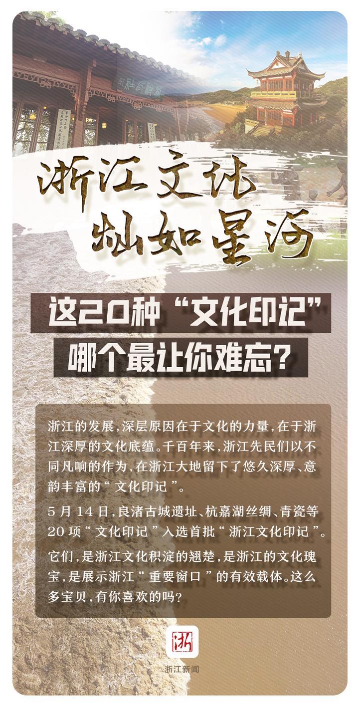 """浙江文化灿如星河 这20种""""文化印记"""" 哪个最让你难忘"""